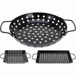 Poêles à barbecue (lot de 3)