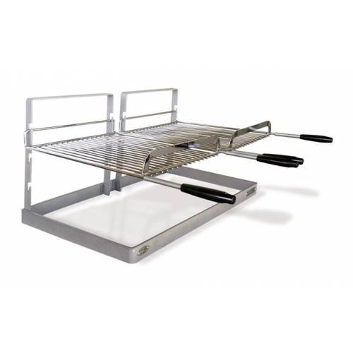 Grille Et Support Pour Cheminee Ou Barbecue Modele Gmd Double